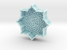 Lotus With Om in Gloss Celadon Green Porcelain