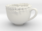 Teeth Tea Cup in White Strong & Flexible