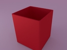 Optional inner pot for Mini cubed (floral patterne in Red Strong & Flexible Polished