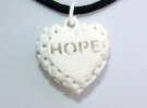 Heart Pendant Lattice Hope in White Strong & Flexible