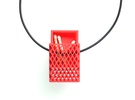 Matchbox Pendant in color in Red Strong & Flexible Polished