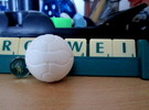 Foosball Soccer Ball (simple version) in White Strong & Flexible