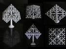 Tiny Octahedral Fractal Tree in White Strong & Flexible