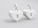 Heartlock Earrings in White Strong & Flexible