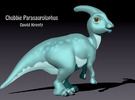 Parasaurolophus Chubbie Krentz in White Strong & Flexible Polished