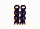 Helix Dangle Earrings V1 in Purple Strong & Flexible Polished