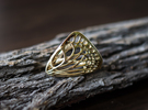 Butterfly Ring [ Size 7 ] in Polished Brass