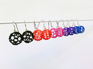 Mini Buckyball Chemistry Molecule Earrings in Black Strong & Flexible