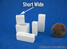 Cityscape Vase Short Wide 1:12 scale in White Strong & Flexible Polished