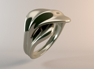 Infinity Ring - 07 in Polished Silver