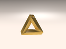 Penrose Triangle - Pendant (3.5cm | 3.5mm hole) in Stainless Steel
