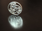 "Celtic Amulet [3.6cm, 1.4""] in White Strong & Flexible"