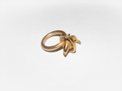 Dolplin Ring (US Size8) in Polished Gold Steel