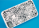 Organic texture iphone 4s cover in White Strong & Flexible Polished
