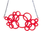 Michelin-like necklace in Red Strong & Flexible Polished