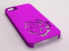 Rose Iphone Case in Purple Strong & Flexible Polished