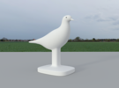 Pigeon Bird in White Strong & Flexible