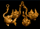 Catch of the Day in Polished Gold Steel