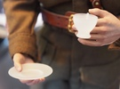 1/6 scale Tea Cup & saucer in Frosted Ultra Detail