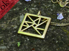 trigon varia pendant III in Polished Brass