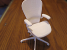 "Aeron Chair PostureFit 6"" tall in White Strong & Flexible"