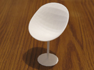 Stool 2 in White Strong & Flexible