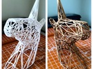 Wire Unicorn Head Statue: 6 Inch in White Strong & Flexible