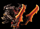 Transformers AOE LDR Grimlock Replacement Head in Black Strong & Flexible