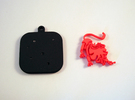 """Base for """"Keychain Zodiac Lion"""" (two color) in Black Strong & Flexible"""