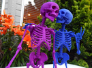 Mr Bones -- Customizable Articulated Skeleton in White Strong & Flexible Polished