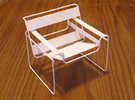 """Wassily Chair 3.7"""" tall in White Strong & Flexible"""