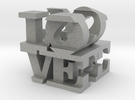 "love/life - small (1"") in Metallic Plastic"