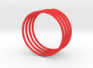 Love Bracelet - Simple - Size D75 in Red Strong & Flexible Polished