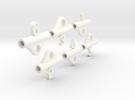 Pop-Up Dice (numbers only) in White Strong & Flexible Polished