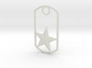 Star dog tag in White Strong & Flexible
