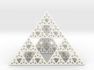 Sierpinski Pyramid  in White Strong & Flexible Polished