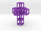 3d-Cross 48 mm fits the HyperCube or 8-Cube Bases in Purple Strong & Flexible Polished