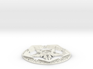 Riven Pentacle in White Strong & Flexible