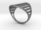Grid Ring in Premium Silver