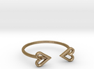 FLYHIGH: Open Heart Skinny Bracelet in Polished Gold Steel
