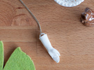 High Five Necklace in White Strong & Flexible Polished