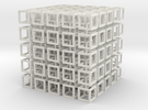 interlocked cubes 5 in White Strong & Flexible