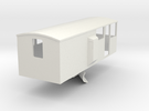 CIE Ballast Plow Brake Van OO Scale in White Strong & Flexible