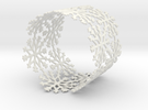 Snowflake Tea Light Ring (bigger) in White Strong & Flexible