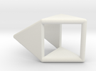 d4 double prism blank in White Strong & Flexible