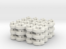 Clover Connector (12-Pack) in White Strong & Flexible