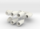 M-Ships Faction 4 Frigate in White Strong & Flexible