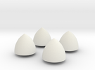 Solid of Constant Width - Set of 4 in White Strong & Flexible
