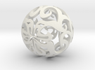Curlicue ball 1 in White Strong & Flexible