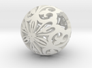 Moroccan Ball 7.1 small in White Strong & Flexible